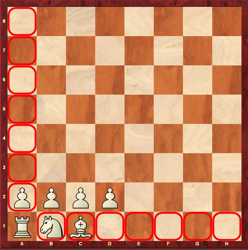 wieża na początku gry