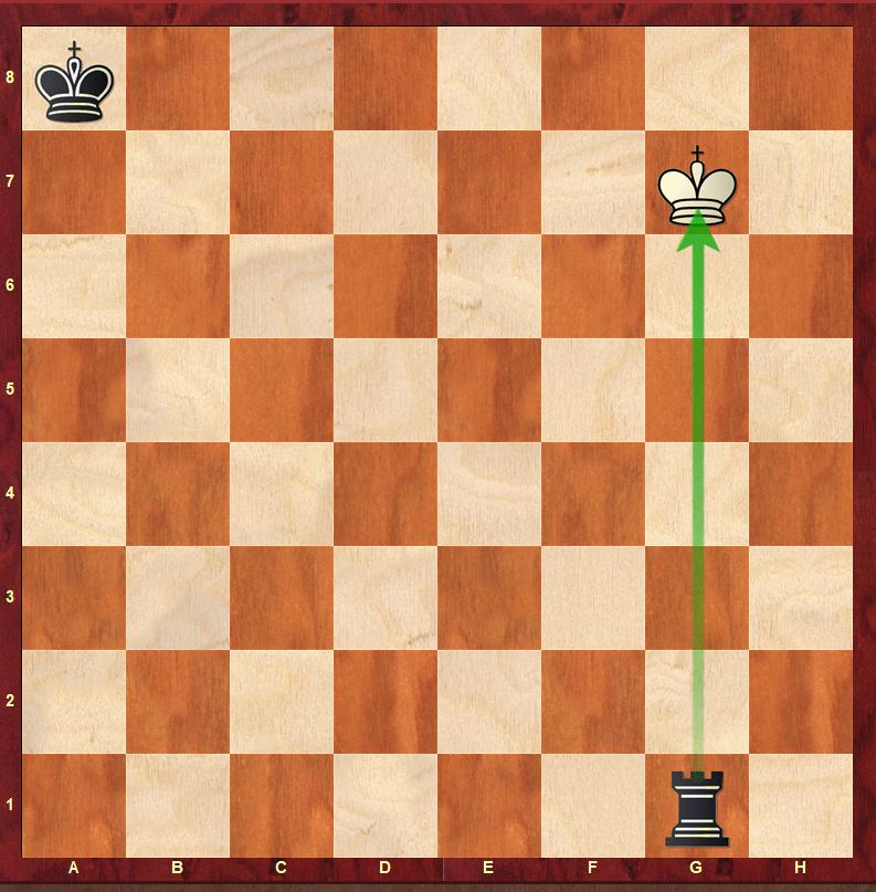 szach wieżą