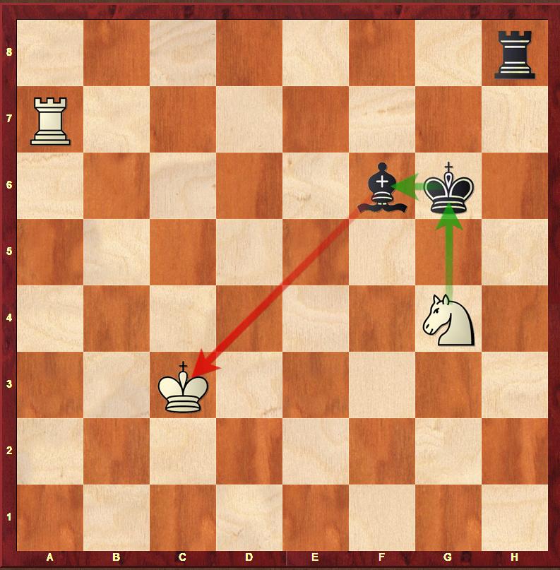 Zbicie figury, która daje szacha