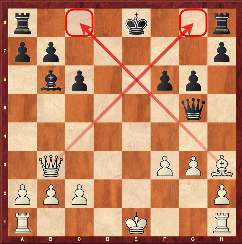 Roszada zabroniona - będzie szach
